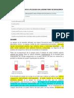MUESTRAS BIOLÓGICAS UTILIZADAS EN LABORATORIO DE BIOQUÍMICA