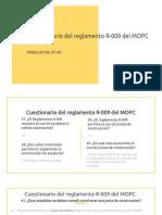 Cuestionario de Reglamento R-009 del MOPC