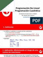 1 - 4 Programación No Lineal Progamacion Cuadrática