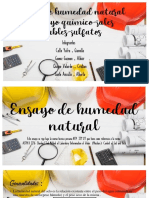 ENSAYO DE HUMEDAD NATURAL - ENSAYOS QUÌMICO - SALES SOLUBLES - SULFATOS  -  SECCION A