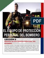 LECCION 6 EQUIPO DE PROTECCION PERSONAL PARA BOMBEROS