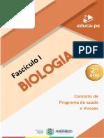 Biologia - Fascículo 1 - 2º Ano [Conceito de Programa de saúde e Viroses]