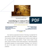 [6] Contributing to Cultural Production