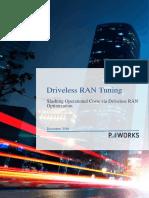 Driveless RAN Tuning