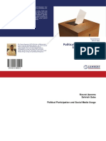 Political Participation and  Social Media Usage
