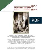 Details / Photos - Who Was Shirdi Sai Baba ?