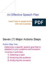 An Effective Speech Plan