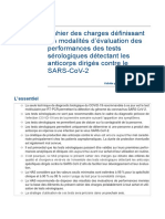Cahier Des Charges Test Serologique Covid19