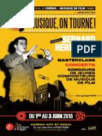 Musique, on tourne ! - Bernard Herrmann - Programme festival 2018
