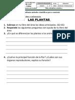 FICHA DE REFUERZO LAS PLANTAS