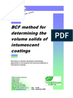 IC 001 BCF method for determination of intumescent coating volume solids