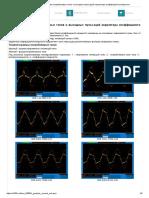 Осциллограммы потребляемых токов и выходных пульсаций корректора коэффициента мощности