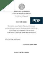 Gabriele Bianco- Tesi di Laurea in Logopedia - L'Anartria nella Paralisi Cerebrale Infantile