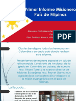 Informe Misionero  Filipinas Marzo 2020