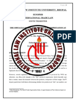 SYNOPSIS ITL 01 The obstacle of 'like product' interpretation at WTO for Animal Welfare