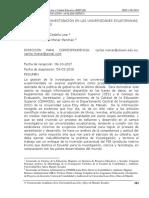 LA GESTIÓN DE INVESTIGACIÓN EN LAS UNIVERSIDADES ECUATORIANAS. ANÁLISIS CRÍTICO