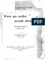 François-René La Tour Du Pin - Vers Un Ordre Social Chrétien; Jalons de Route, 1882-1907 [1917]