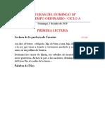 LECTURAS DEL DOMINGO 14º