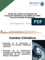 Huella de Carbono en Sistemas de Transporte Hidráulicos de Sólidos en Chile
