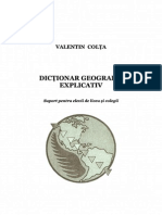 Dictionar geografic explicativ
