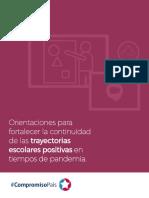 Orientaciones para fortalecer la continuidad de las trayectorias escolares positivas en tiempos de pandemia