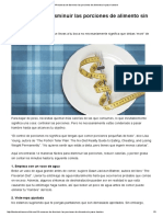 14 maneras de disminuir las porciones de alimento sin pasar hambre - Dr