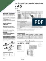 AS1001F-regulador de caudal instantaneo