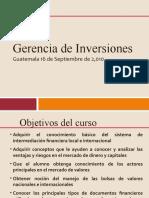 Curso Gerencia de Inversiones