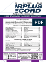 SEPTEMBER 2020 Surplus Record Machinery & Equipment Directory