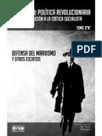 José Carlos Mariátegui - Defensa del marxismo