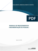 Manual da Movimentação de Pessoal