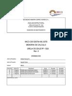 Memoria de Calculo Oreja de izaje P-1523 caratula