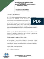 Regimento Interno Conselho de Meio Ambiente