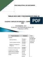 TABLAS HCM 2000 Y PROCEDIMIENTO CARRETERAS 2K