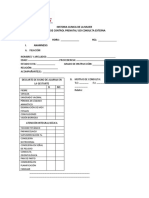 MODELO DE HCL PARA LA ATENCION EN OBSTETRICIA Y GIN ESTABLECIDO POR EL MINSA