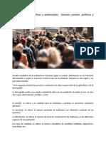 Cuestiones demográficas y ambientales
