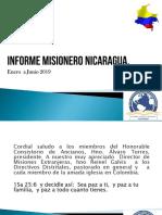 Informe Misionero Nicaragua Junio 2019