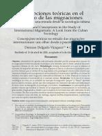 Concepciones teóricas en el estudio de las migraciones