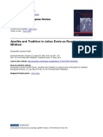 Apolitìa and Tradition in Julius Evola as Reaction to Nihilism - European Review - 2014
