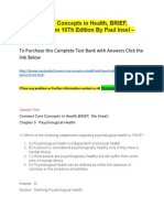 Connect Core Concepts in Health, BRIEF, BOUND Edition 16Th Edition by Paul Insel – Test Bank