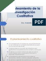 Planteamiento de la investigación cualitativa