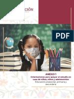 Orientaciones para apoyar el estudio en casa de niñas, niños y adolescentes
