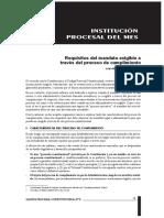 SOSA  SACIO. Requisitos del mandato
