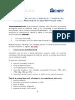 Procedura utilizare comunicare electronica