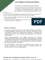Normas internacionales en las firmas de Auditoría