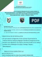 PRESENTACION DIAGNOSTICO DE PREVENCION DE VIOLENCIA NUCLO 6
