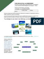 Guía 6 - Once - La transformación de la energía