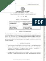 RESOLUCIÓN RECHAZO POR COMPETENCIA FRANCISCO GOMEZ CECHAR.14.08.2020