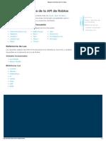 Manual de referencia de la API de Roblox