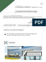 UC01G01UE1 - Comunicação escrita 1 _ FUNDAMENTOS DA COMUNICAÇÃO E INFORMÁTICA